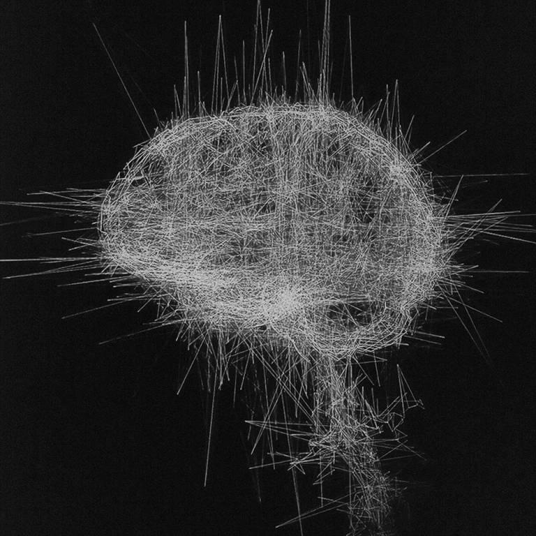 Filaments représentant un cerveau