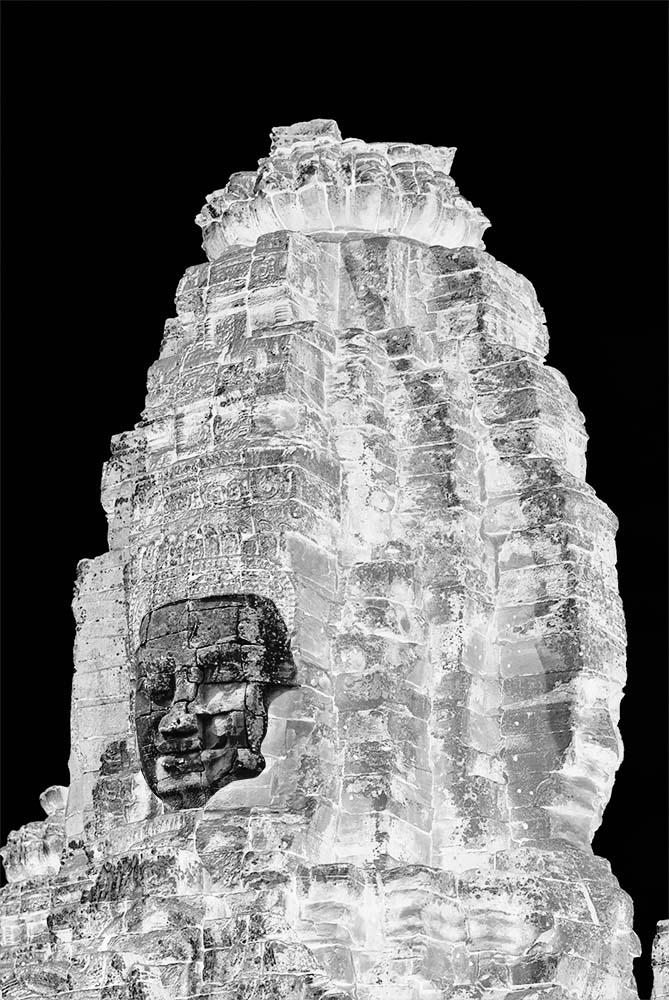 Statue à Ankor illustrant le concept d'honnêteté
